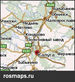 Gps карты калужской области